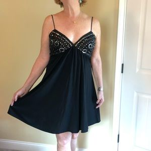 Cocktail dress, sequin/jeweled black Sz 8 adorable